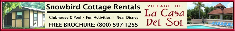 Snowbird Cottage Rentals Near Disney