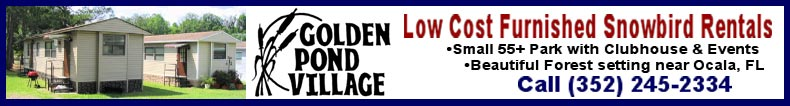 Golden Pond Village Furnished Snowbird Rentals